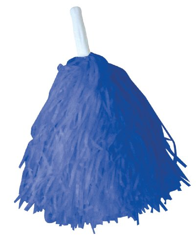 "Creative Converting School Spirit Party Favor 16"" x 5"" Pom Pom (True Blue)"