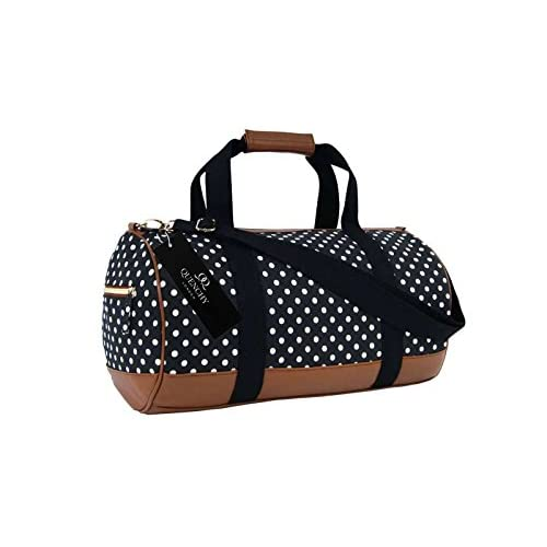 Canvas Travel Holdall Duffel Weekend <strong>Overnight< strong> Polka Dot Print <strong>Bag< strong> QL6152M