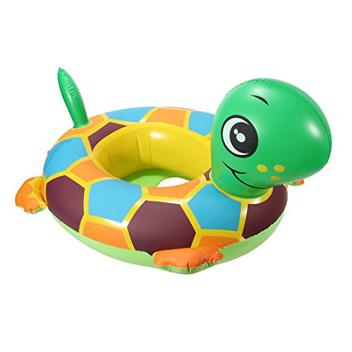 KINGSO Baby Child Tortoise Shape Inflatable Seat Float Boat Ring Swim Swimming Pool