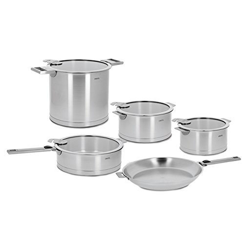 Cristel Strate 18/10 Stainless Steel 13 Piece Cookware Set with Removable Handles (Cristel Cookware compare prices)