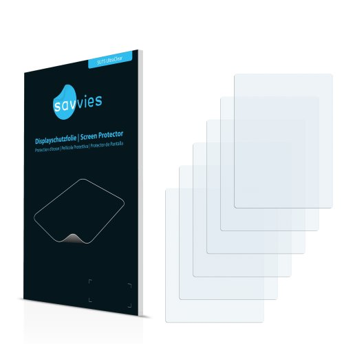 6x Displayschutzfolie - Bookeen Cybook Odyssey HD - Schutzfolie Displayschutz Folie Ultra-Transparent, Unsichtbar
