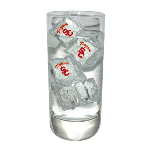 University of Southern California Set of 4 Light Up Ice Cubes
