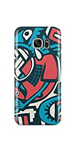 Casenation Tech Art Samsung Galaxy S7 Edge Matte Case