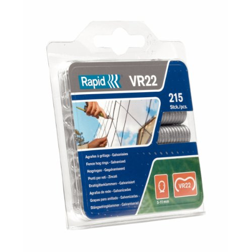 Rapid 40108801 VR22 Heavy Duty Galvanised Fence Hog Rings