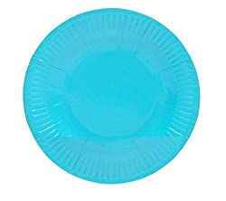 PrettyurParty Paper Plates (Pack of 10) - Blue
