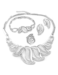 White Gold Plated Beautiful Jewellery Set