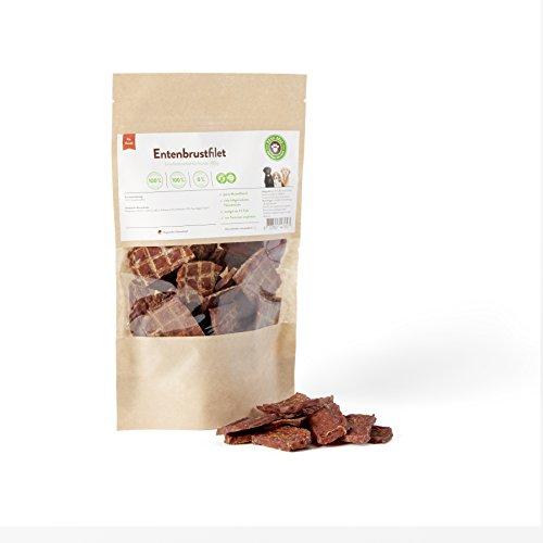 Artikelbild: BARF für Hunde, Hundesnack, Trockenfleisch Entenbrustfilet Hunde 100g   PETS DELI   gesunder Snack für Hunde und Katzen, 100% pures Premium-Fleisch, luftgetrocknet