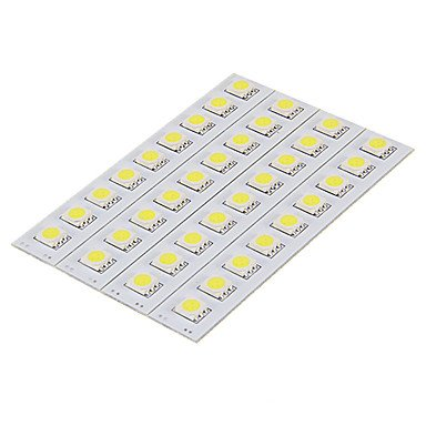 Zakidiy 1.5W 9X5050Smd 30-60Lm 5500-6000K Cool White Light Led Pcb Board (12V)