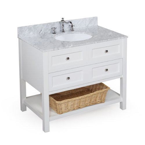 Best Buy! New Yorker 36-inch Bathroom Vanity (Carrera/White): Includes an Italian Carrera Marble Cou...