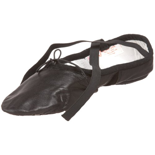 Sansha Silhouette Leather Ballet Slipper,Black,14 M US Women's/10 M US Men's