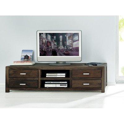 """SIT-Möbel 1521-01TV de banco """"anidables Natural, 185x 55x 49cm, madera de shishú maciza), color natural"""