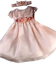 KID Collection Baby-Girls Flower Princess Dress 12M Med Pink (Kid B776)