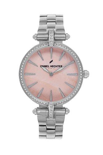 Daniel Hechter - 010S DHD/EM Women's Quartz Analogue Watch-Pink Face-Silver Steel Strap