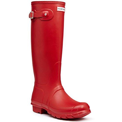 Donna Hunter Original Tall Inverno Pioggia Stivali Di Gomma Stivali - Militare Rosso - 35/36