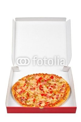 Wallmonkeys Peel and Stick Wall Decals - Tasty Italian Pizza in the Box - 18