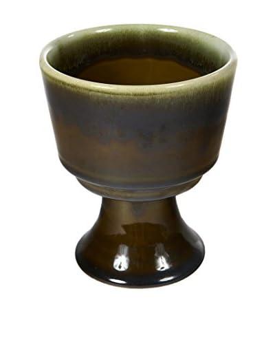 1960s Green Flower Pot
