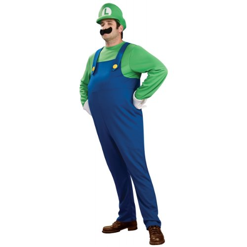 Super Mario Brothers Deluxe Luigi Costume, Plus