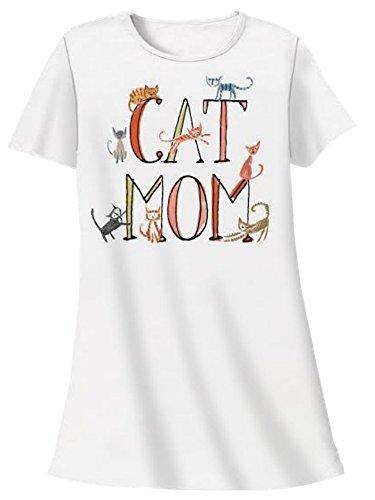 Nightshirt All Cotton Cat Mom