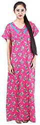 Milan Collection Women's Printed Dressing Gowns & Kimonos (MC-211_40, Pink, Size - 40)