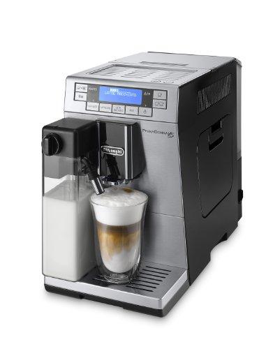 DeLonghi ETAM 36.366.MB LatteCrema Kaffee-Vollautomat Prima Donna XS (1,3 Liter, 15 bar, 1450 Watt, Milchbehälter, 19,5 cm breit, Edelstahlfront) silber/schwarz thumbnail
