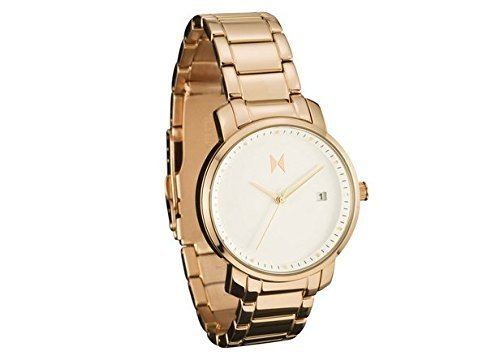 MVMT Damen watch Uhr Female White Rose Gold poliertes Edelstahl Armband MF01-RG