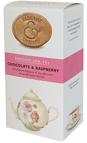 Elegant and English Chocolate and Raspberry Biscuits (4.41 Ounce) (English Chocolate Biscuits compare prices)
