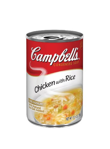 Campbell's Red & White Chicken with Rice Soup, 10.5-Ounce Cans (Pack of 24)