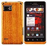 Skinomi TechSkin - Light Wood FILM Shield & Screen Protector for Motorola Droid Bionic + Lifetime Warranty