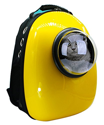 Bode Backpack pet cat out bag backpack space (yellow)