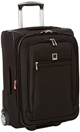 Delsey Luggage Helium Hyperlite Carry-On Expandable 2 Wheel Trolley, Black, One Size