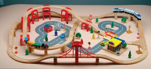 Childcraft Big City Train Set, Over 110 pieces