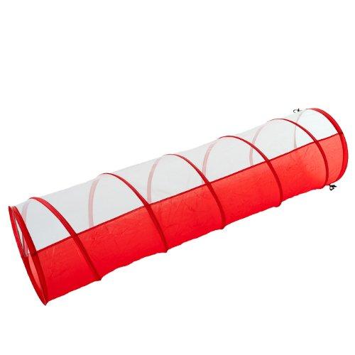 Artikelbild: Spieltunnel für Welpen ( und Kinder) rot-weiß 180 x 48 cm