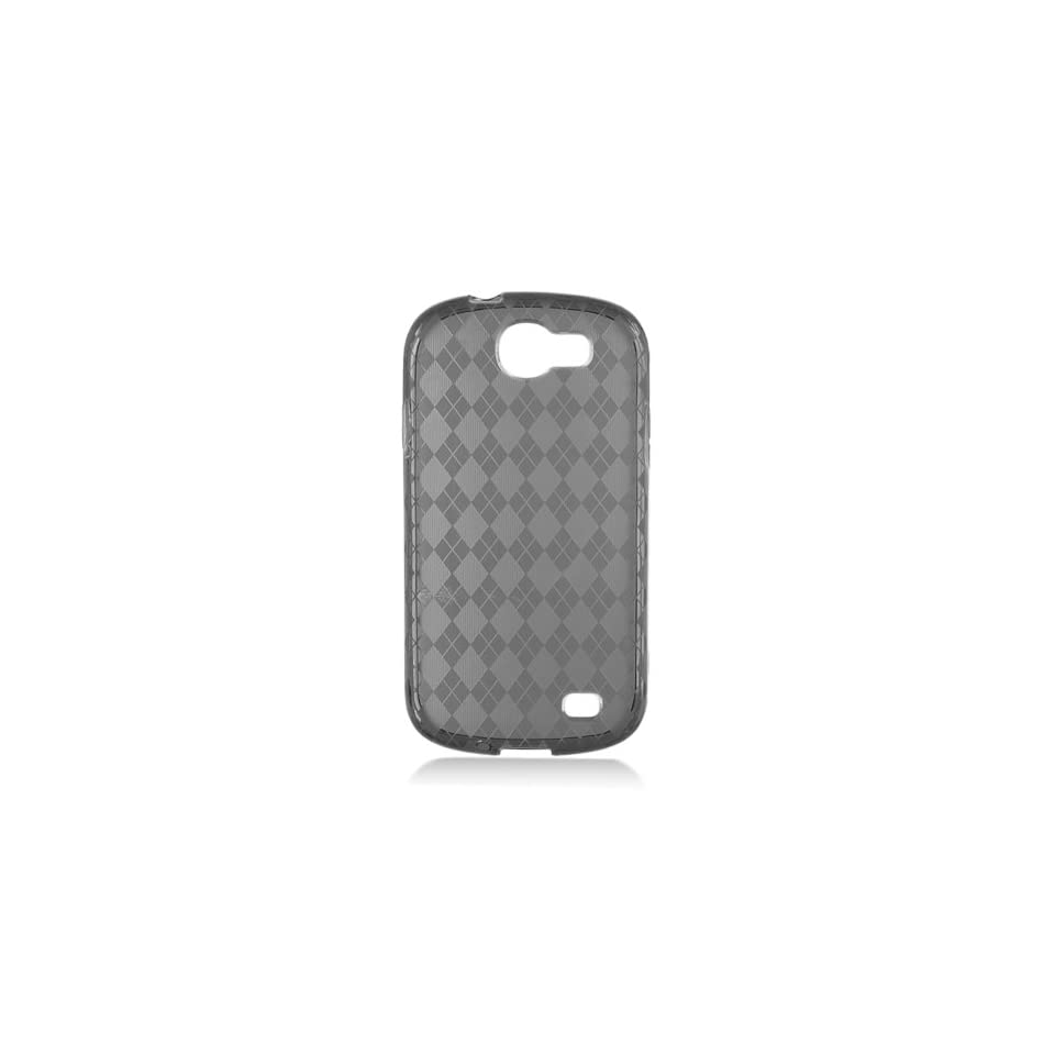 Black Clear Frosted Flex Cover Case for Samsung Galaxy Express SGH I437 Cell Phones & Accessories