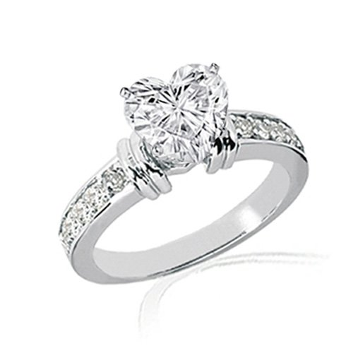 1.30 Ct Heart Shaped Diamond Engagement Ring 