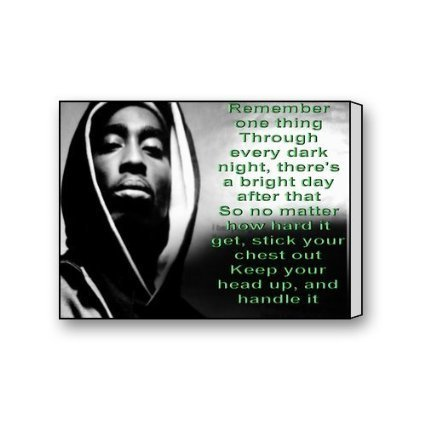 Leereevs WOOD FRAME Wall Art Painting Tupac Shakur Quotes Modern Canvas Print (Tupac Picture compare prices)