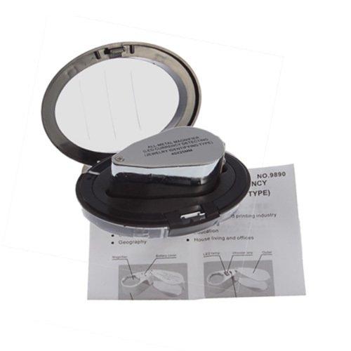 40X Illuminated Jeweller Jewelry Magnifier Magnifying Glass Loupe Led Light