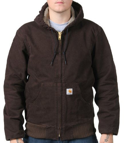 Carhartt Sherpa Lined Jacket Mens Winter Work Coat- Brown