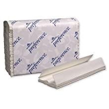 "Georgia-Pacific Preference 20241 White C-Fold Paper Towel, 13.2"" Length x 10.1"" Width (Case of 12 Packs, 200 per Pack)"