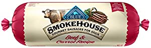 BLUE Smokehouse Sausage Beef & Carrots Wet Dog Food Roll, 2.25 lb