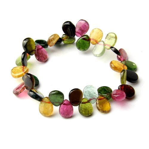 O-stone 2A Natural Tourmaline Raindrop from Paradise Bracelet Grounding Stone Protection 7