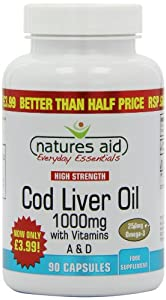 Natures Aid 1000mg High Strength Cod Liver Oil - Pack of 90 Capsules