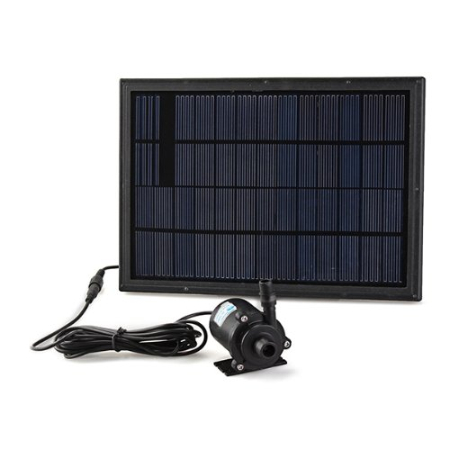 Solar Panel Power Water Pump Fountain Pool Garden Plants Pond