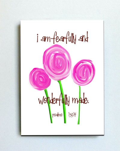 """Kidzies Psalms Flowers Off-The-Wall 3D Artwork 8""""X10"""" front-568362"""