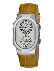 Philip Stein Women's 1-F-FAMOP-ASS Signature Tan Alligator Leather Strap Watch