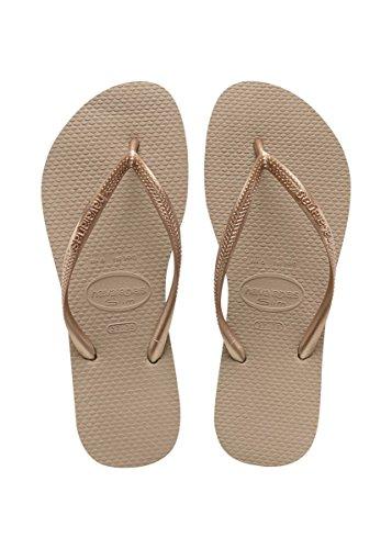 Havaianas Women's Slim Flip Flops, Rose Gold, 39/40 EU (10.5 B(M) US Women)