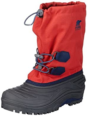 Sorel Girls Super Trooper Snow Boots  Red Rot (Juicy, Nocturnal 608) Size: 33