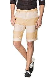 Zovi Light Brown & Beige Shorts(1207550090132)