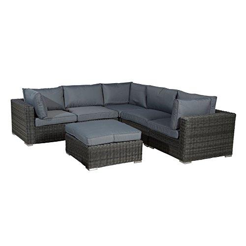 Gartenlounge OUTLIV. Robinia Lounge-Set 6-teilig Geflecht Earl Grey 700016-835717