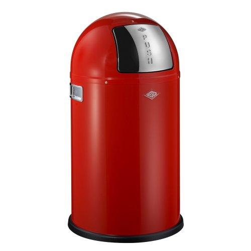 Wesco Pushboy Chroom.Wesco Pushboy Waste Can 5 8 Gallon Junior Red