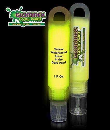 Glominex Glow in the Dark Paint - 1 oz Tube - Yellow